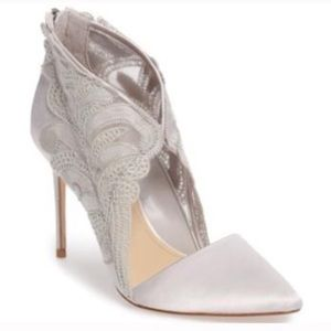 NWT Vince Camuto Gray Silver Heels